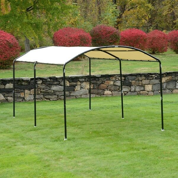 ShelterLogic 25867 MonarC Round Top Canopy 10 X 18 Feet Sandstone Cover