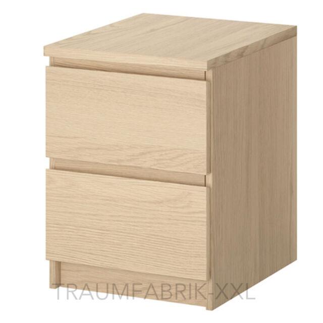 Ikea malm dresser with 2 Drawers Oak Night Console Night Table Wardrobe NIP