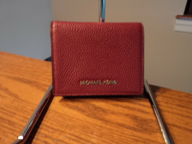 fc52ceda0e5b ... release date michael kors mulberry saffiano leather jet set travel flap  card holder wallet ebay e5a9f