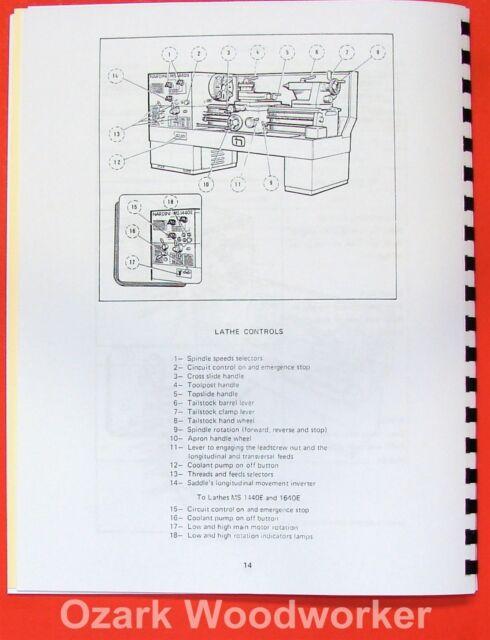 nardini ms 1440 1640 s e mascote lathe part manual 0483 ebay rh ebay com  nardini ms 1440 manual