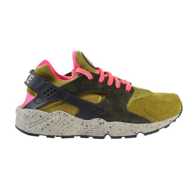 Men's Nike Air Huarache Run Premium Running Shoes -  Desert Moss/Cobblestone/Car