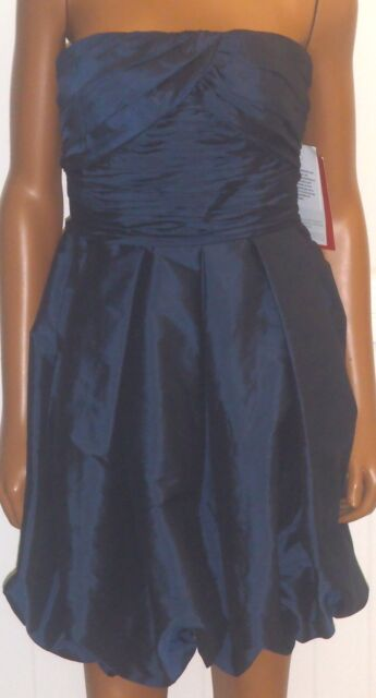 Js Collection Dress Lord And Taylor Strapless Semi Formal Short Blue