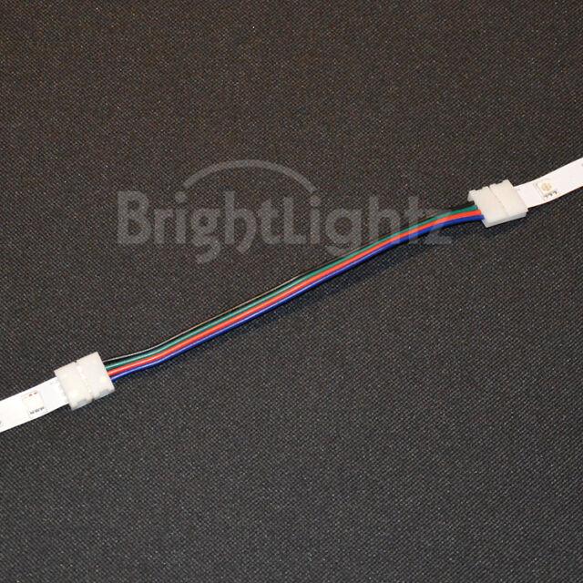 Rgb 5050 led strip light solderless connectors link wires tape rgb 5050 led strip light solderless connectors link wires tape corner joiners uk 15cm 100 ebay aloadofball Choice Image