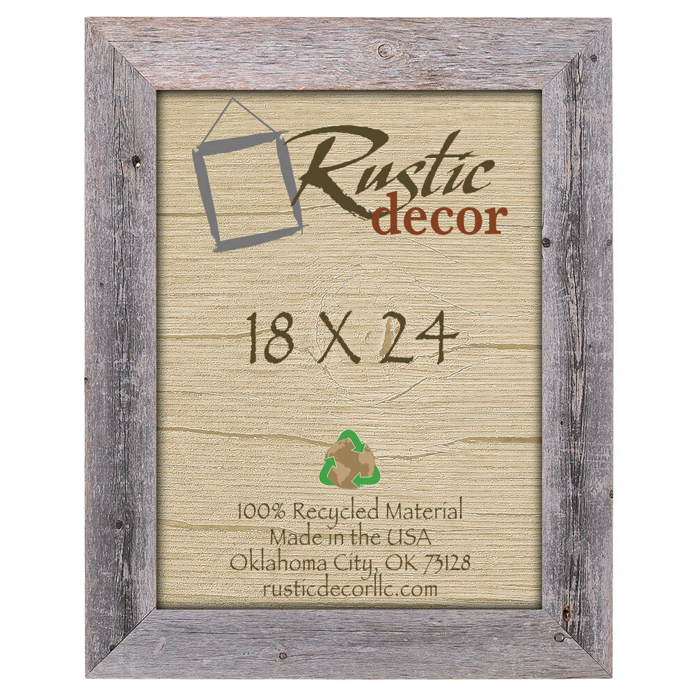 18x24 Natural Barn Wood Extra Wide Wall Frame   eBay