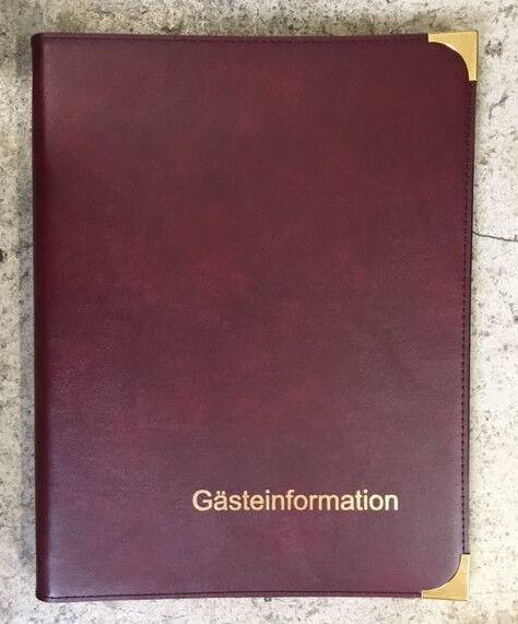 RH Informationsmappe Zimmermappen Hotelmappe Speisekarte Infomappe bordeaux