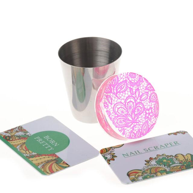 1 PC Clear Jelly Nail Art Stamper Kit DIY Marshmallow & 2 Born ...
