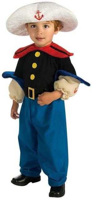 Sailor Boy Navy Muscle Popeye Fancy Dress Up Halloween Toddler Child Costume  sc 1 st  eBay & Little Sailor Muscle Sailor Toddler Costume 2t | eBay