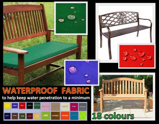 ZIPPY SML WATERPROOF FABRIC BENCH CUSHION 100cm X 41cm GARDEN FURNITURE  Seat Pad Part 73