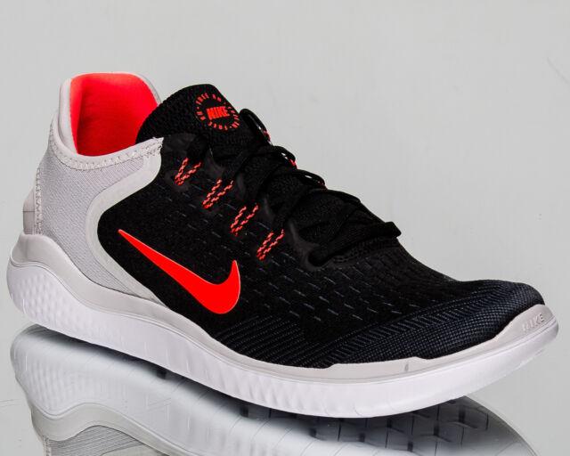 Nike Free RN 2018 Men Black Total Crimson Vast Grey Running Sneakers 942836-005