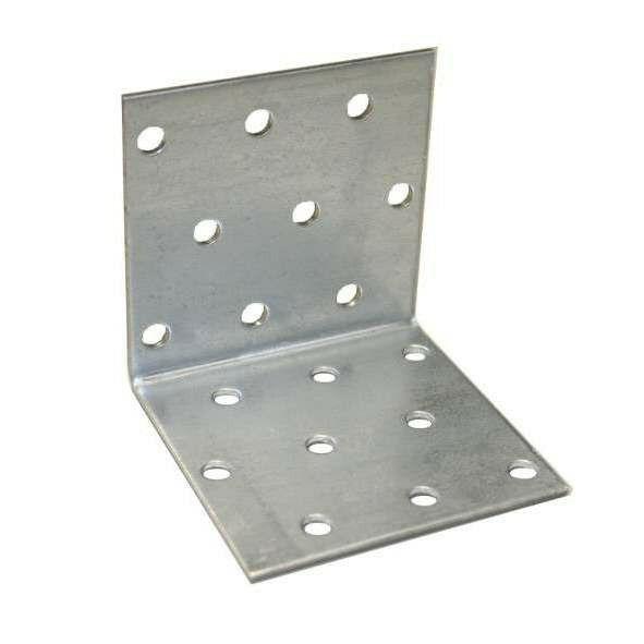 20 Stck Lochplattenwinkel 40x40x40 x 2,0 mm verzinkt Winkel  Winkelverbinder