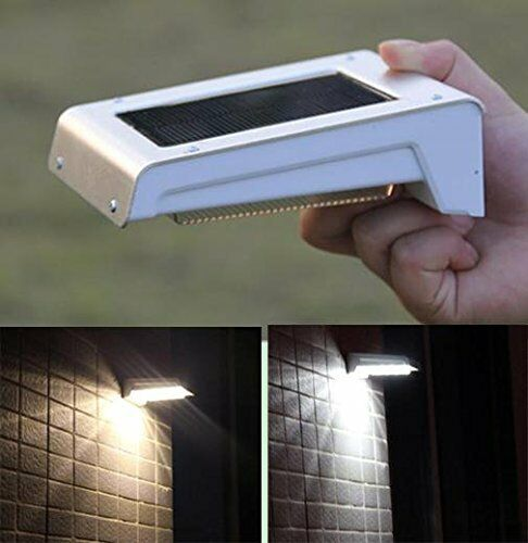 16 Led Waterproof Solar Ed Fence Post Light Motion Sensor Outdoor Garden Ebay