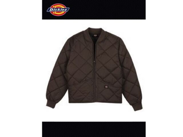 Dickies Jacket Mens Diamond Quilted Nylon Jackets 61242 Knit Lining