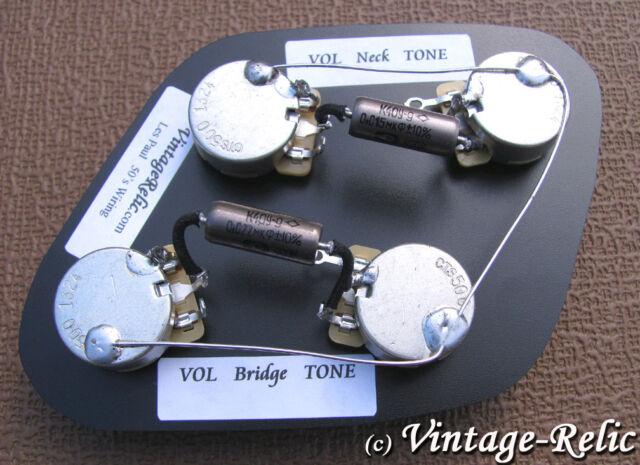 wiring kit pio k40y 9 015uf 022uf cts 550k short shaft fits rh ebay com 1950 S Gibson Les Paul Wiring Gibson Wiring Harness