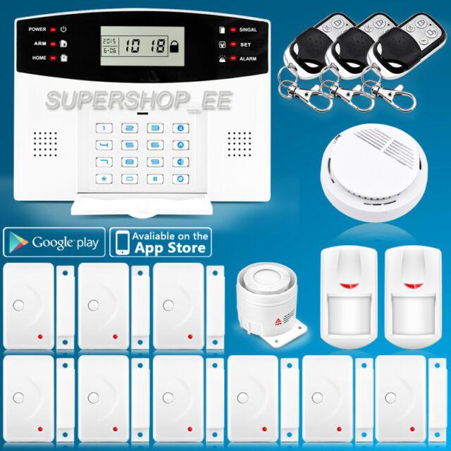 ZONEWAY Wired Wireless GSM Home Burglar Security Fire Alarm System ...