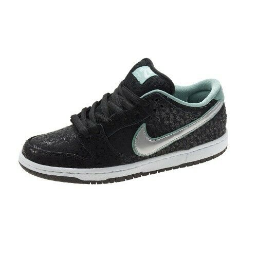 Nike DUNK LOW PRO PREMIUM SB Black Metllic Platinum 573901-002 (239) Men's Shoes