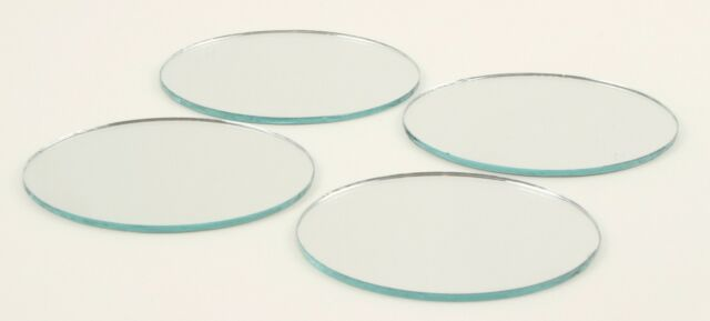 2 Inch Mini Glass Craft Round Mirrors 48 Pieces Small Mosaic Mirror Tiles