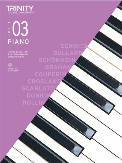 Trinity College London Piano Pieces & Exercises 2018-2020, Grade 3 Book/CD