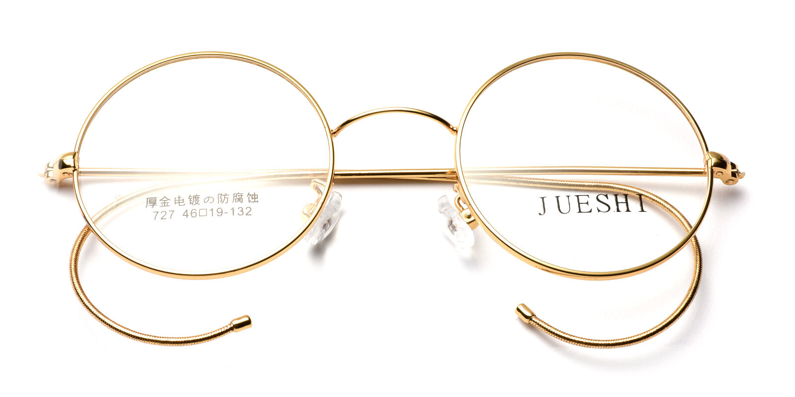 Vintage Cable Temple Round Eyeglass Frames Spectacles RX Retro Mens ...