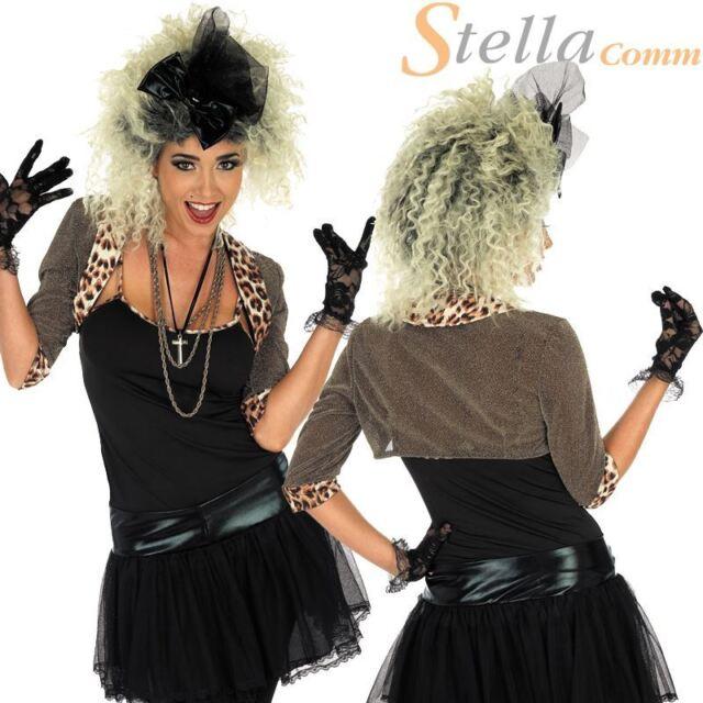 80s Pop Star Costume Wild Child Fancy Dress Madonna Outfit Ladies Womens UK 8-26