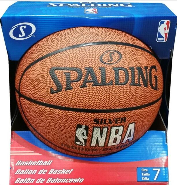 New Spalding NBA SILVER INDOOR / OUTDOOR Basketball Sports Ball Size 7
