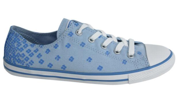 Converse Chuck Taylor Dainty con lacci blu floreale Donna Scarpe sportive tela