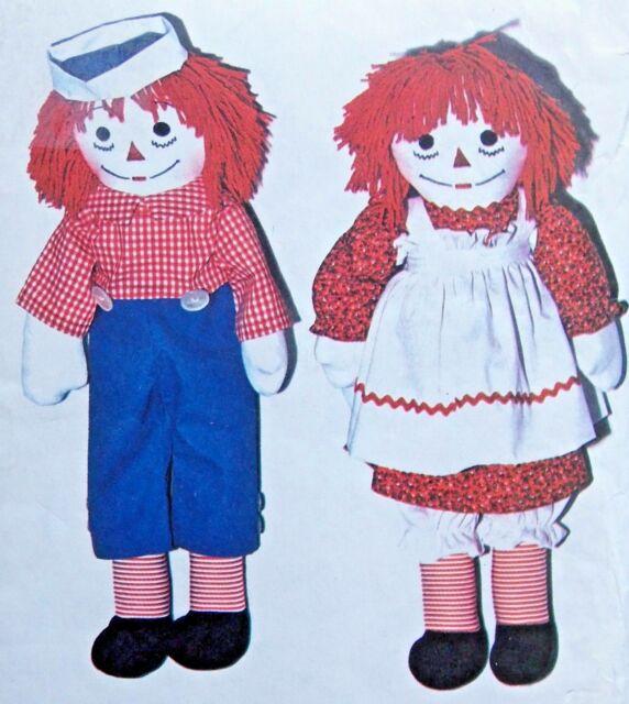 vintage 5713 raggedy ann andy dolls pattern 10 25 - Raggedy Ann And Andy
