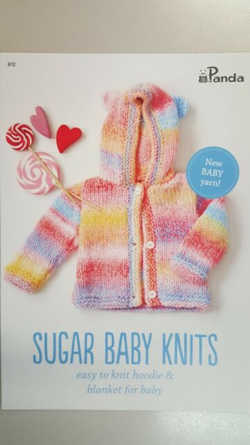 Panda Knitting Patterns Book 812 Sugar Baby Knits Hoodie Blanket