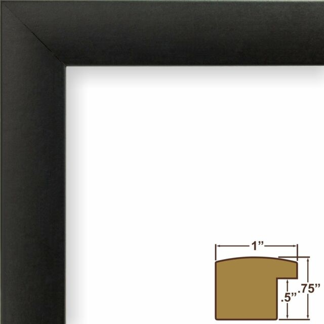 Craig Frames 1wb3bk 24 by 36-inch Picture Frame Smooth Wrap Finish 1 ...