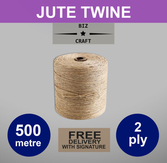 JUTE TWINE STRING 500m for Arts, Crafts,Floristry,Gardening,Wedding + gift tags