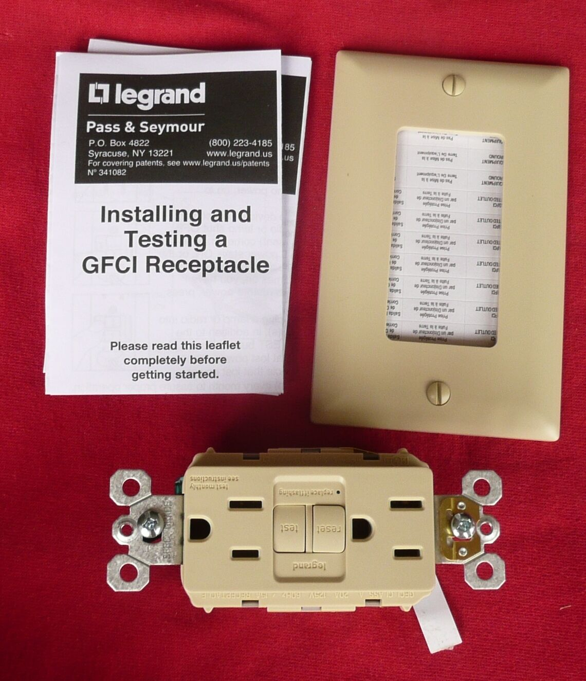 Legrand trademaster gfci self test receptacle 1597i 15 a 125v ivory picture 1 of 3 sciox Image collections