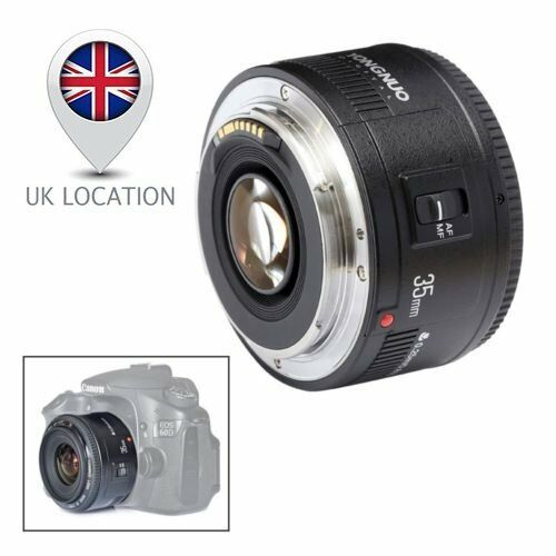 Yongnuo YN35mm EF 35mm Fixed Lens F/2.0 AF MF Wide Angle for Canon EOS Camera UK