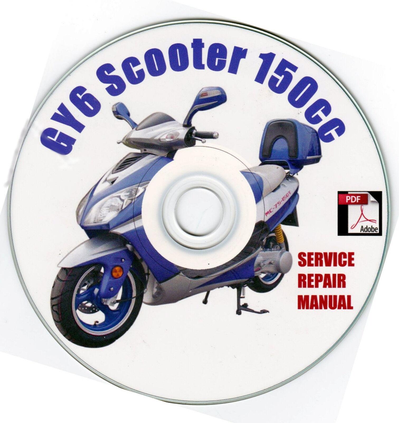 scooter 150cc gy6 qmj service repair shop manual on cd vip peace rh ebay com VIP Future Champion Scooter Manual Peace Sports Scooter Model 1978