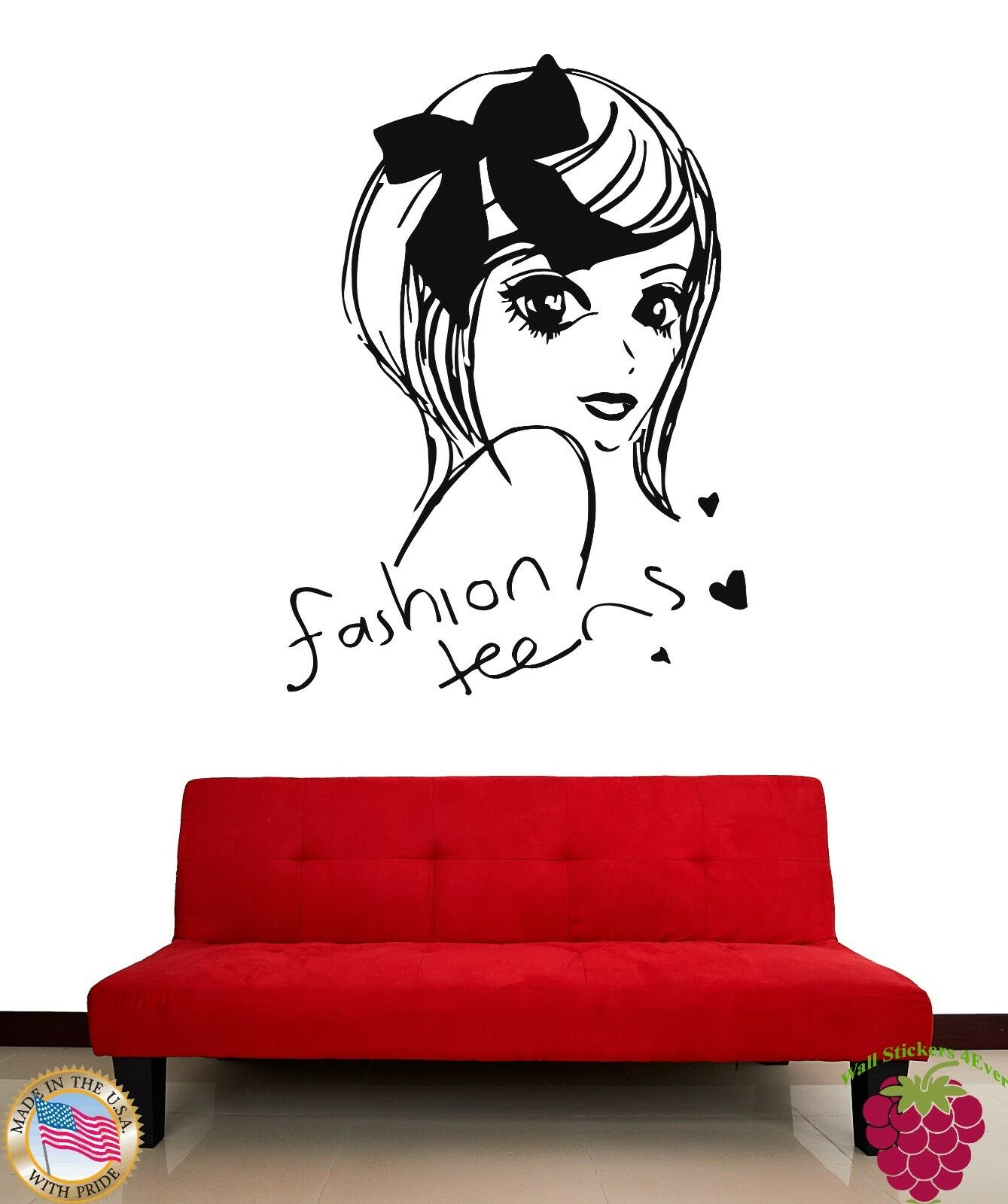 Wall stickers girl teen fashion teens cool decor for you z1894 ebay amipublicfo Images