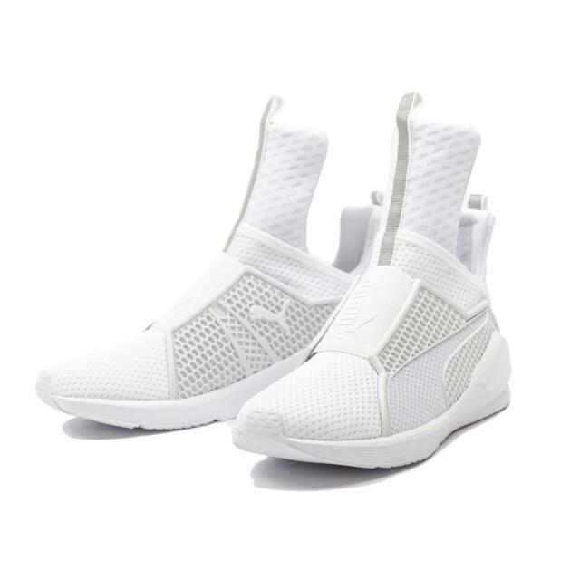 PUMA Fenty TRAINER White/White Scarpe Sneaker Bianco 189193 02