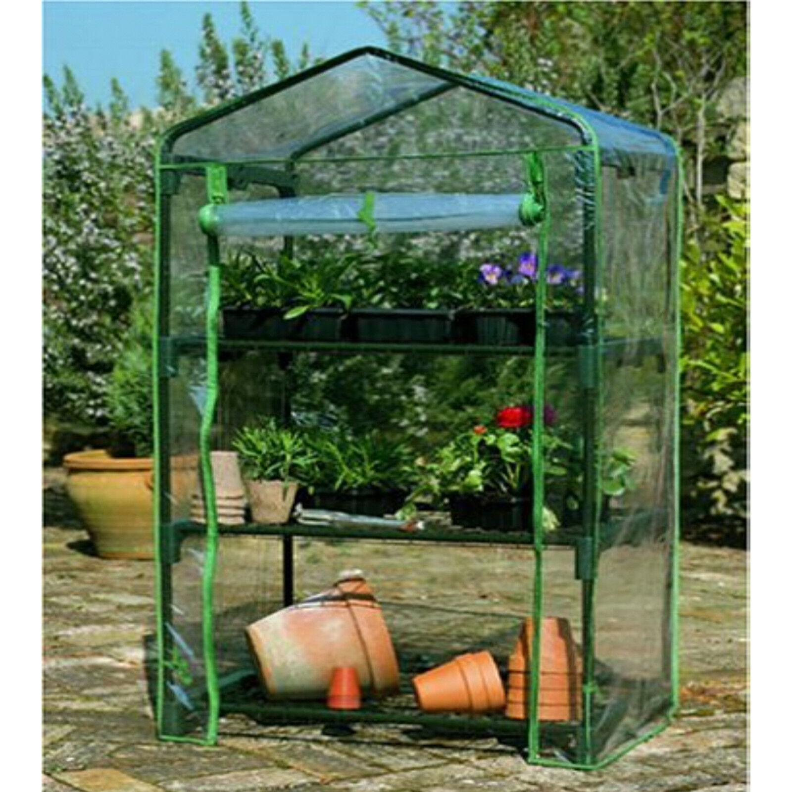 3 Tier Cold Frame Mini Greenhouse Coldframe PVC Cover Garden ...