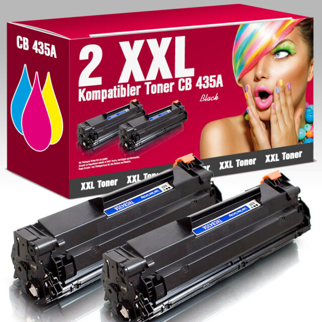 2 Tonerkartuschen für HP LaserJet P 1008 CB435A