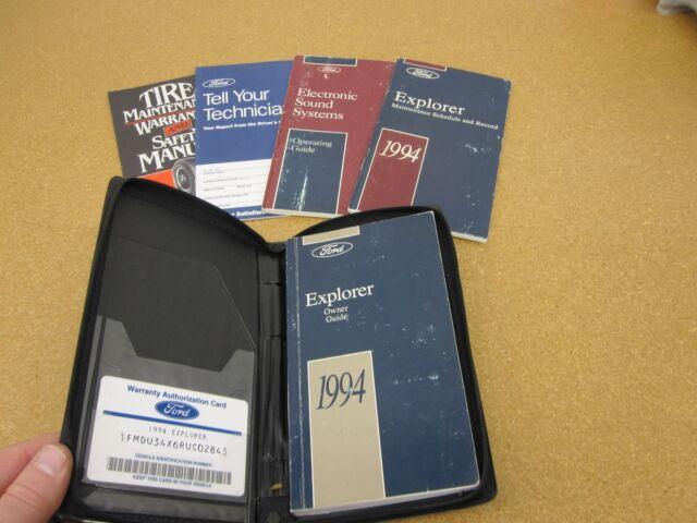 94 1994 ford explorer owners manual ebay rh ebay com 1994 ford explorer xlt owners manual 2002 Ford Explorer Fuses Manual