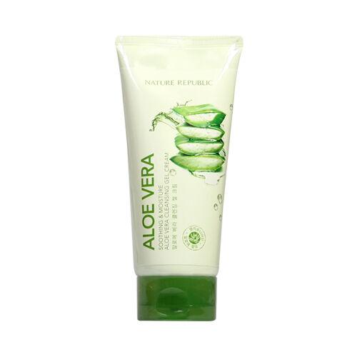 nature republic soothing moisture aloe vera cleansing gel cream 150ml ebay. Black Bedroom Furniture Sets. Home Design Ideas