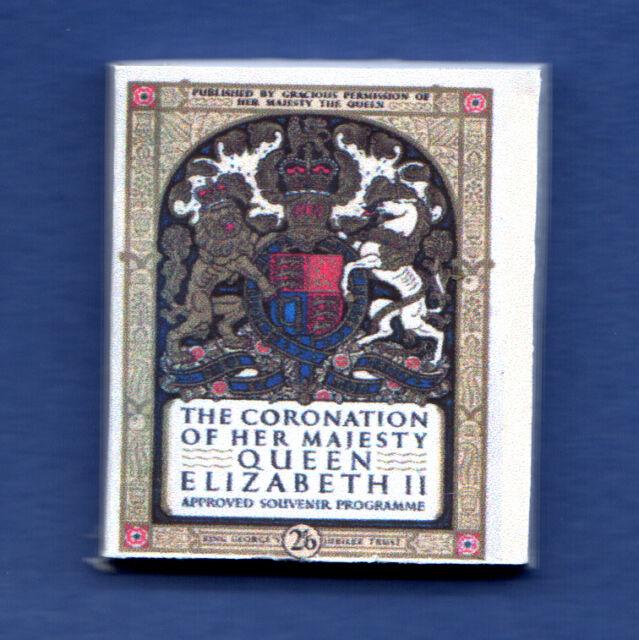 Dollshouse Miniature Book Coronation Programme Queen Elizabeth Ii