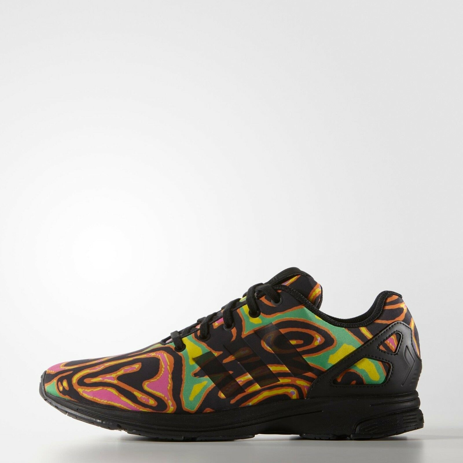 Adidas Originals Jeremy Scott Black ZX Flux Tech Psychedelic Shoes S77841 New