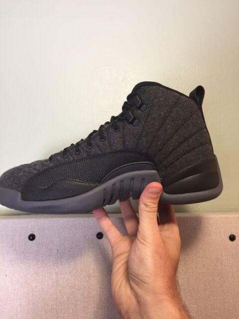 Men's Nike Air Jordan 12 Retro Wool Size 8 (852627 003) Dented Box