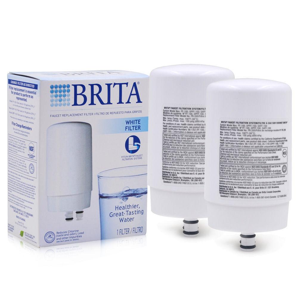 2 PK Brita Faucet Water Filter Fr-200 Ff100 Opff-100 Replacement ...