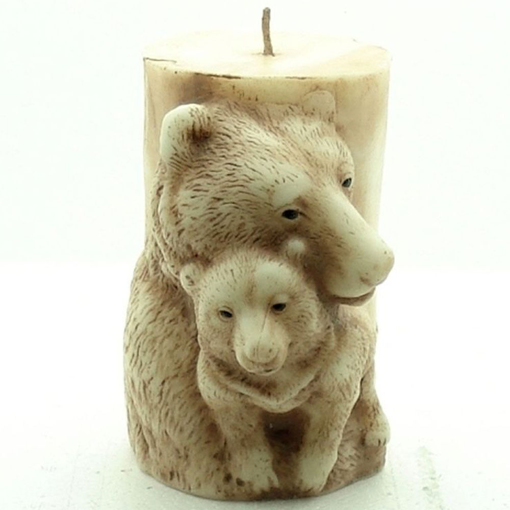 3D Candle Molds Silicone Soap Mold Bear DIY Handmade Craft Wax Clay Resin Moulds