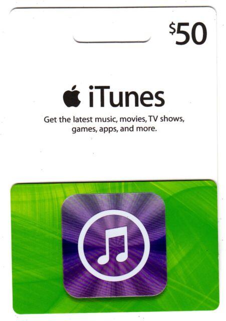 Apple iTunes Gift Card, 50 USD Dollars | eBay