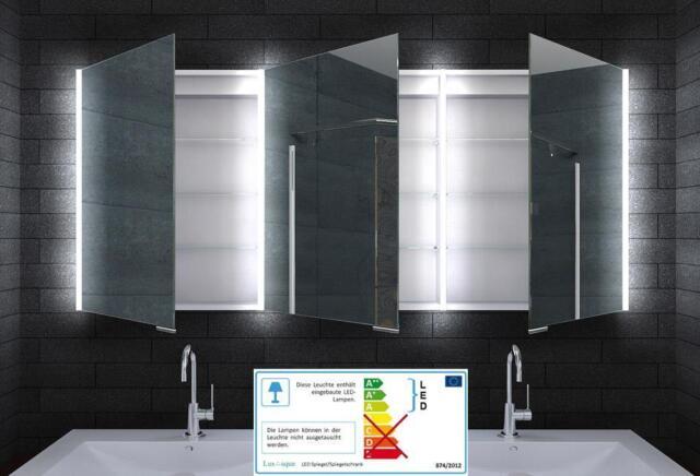 Alu Spiegelschrank Bad Badezimmer Badezimmerspiegelschrank LED Licht ...