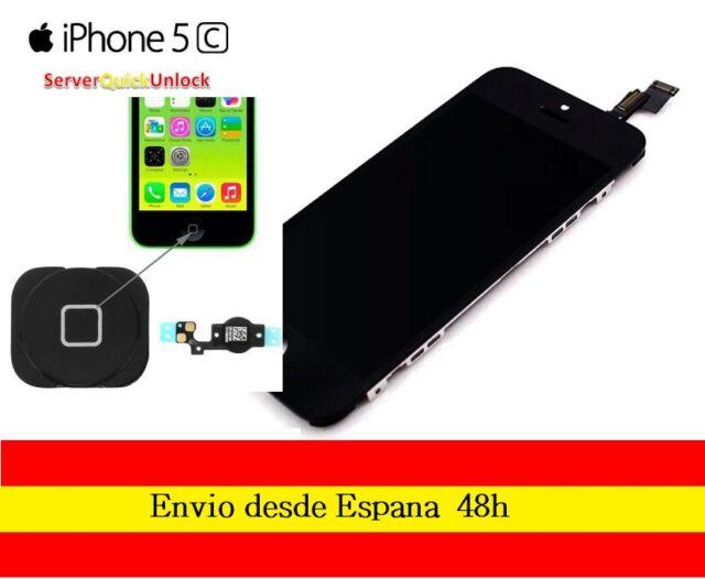 PANTALLA COMPLETA TACTIL LCD IPHONE 5C NEGRO DISPLAY + FLEX BOTON HOME NEGRO