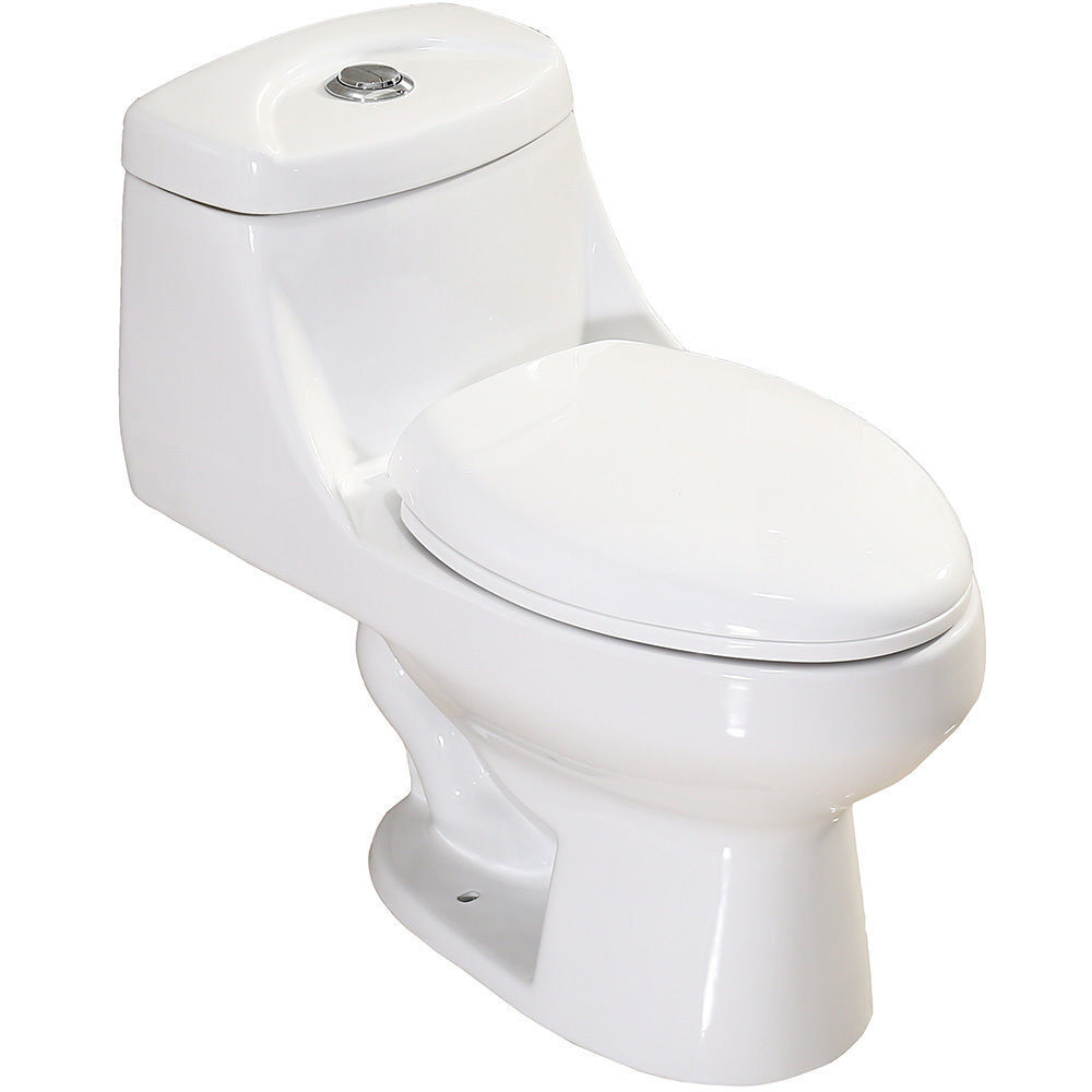 soft touch toilet seat. Picture 1 of 4  Modern Soft Touch Dual Flush Elongated Ceramic One Piece Toilet