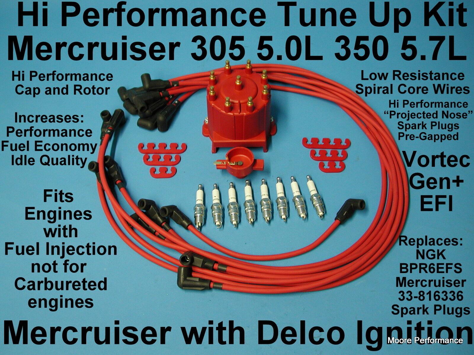 Tune up Mercruiser Gen Vortec MPI 305 350 Spark Plug Wire ...