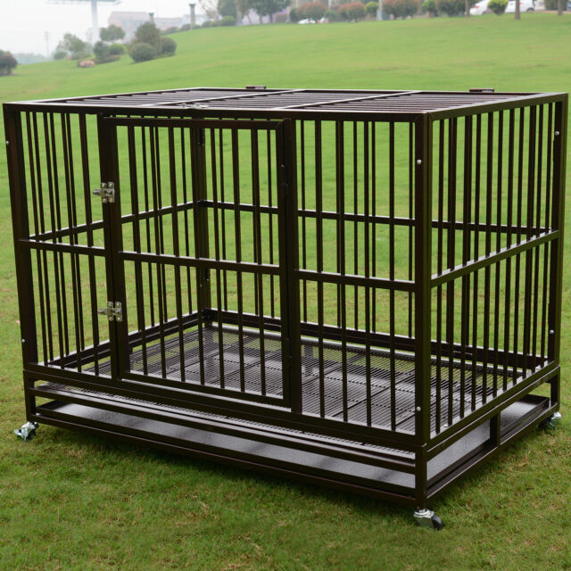 48 Quot Heavy Duty Dog Cage Crate 3xl Kennel Metal Pet Playpen