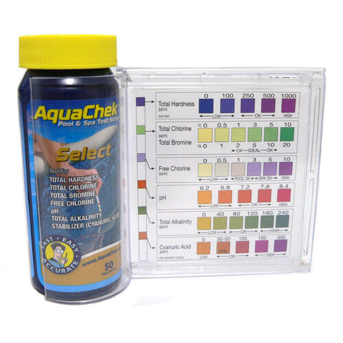 Aquachek Select 7 In 1 Pool And Spa Test Strips Complete